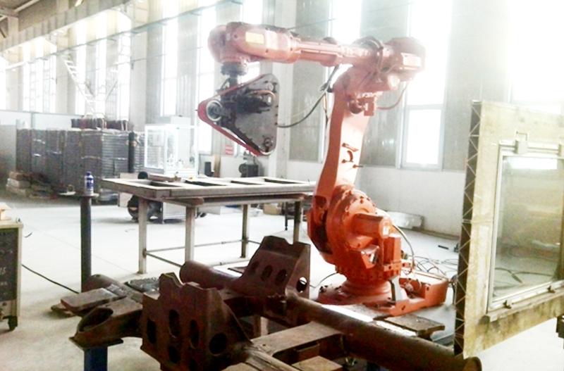 高铁转向架焊缝打磨