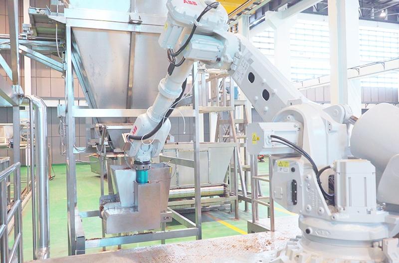 机器人接料